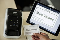 QL-810W with iPad tablet visitor management