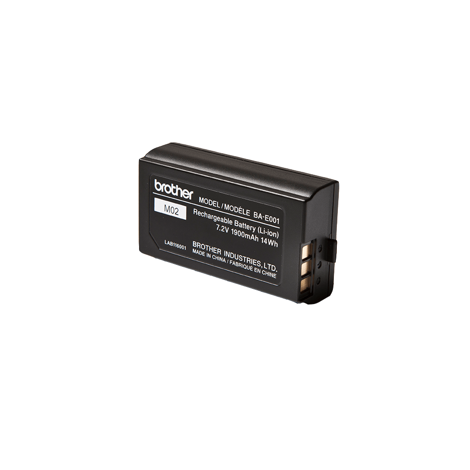 Genuine Brother BA-E001 Rechargeable Printer Battery 0