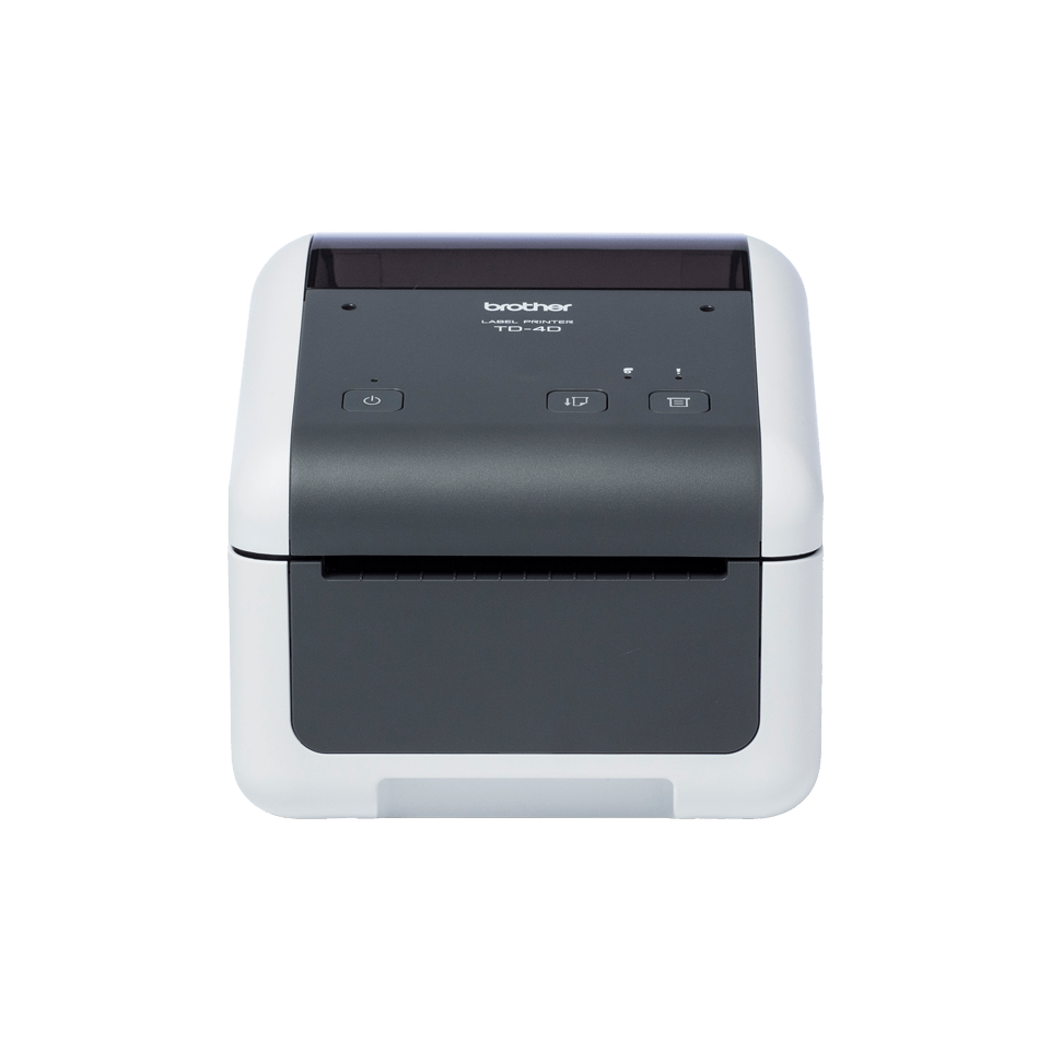 Brother TD-4520DN desktop label printer front shot