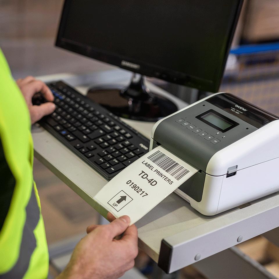 Brother TD-4550DNWB Professional Bluetooth, Wireless Desktop Label Printer 7