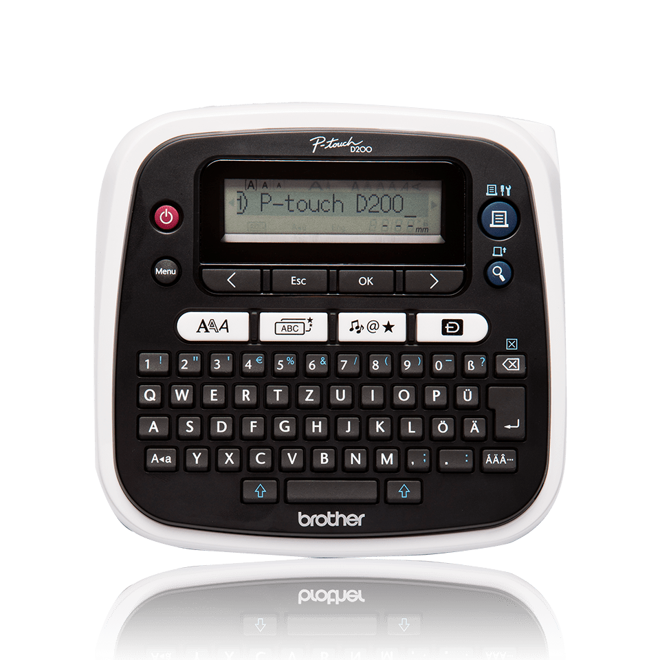 PT-D200VP Desktop Label Printer + Carry Case
