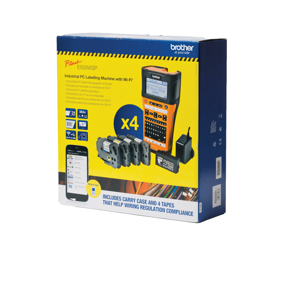 PT-E550WSP Electrician Labelling Kit