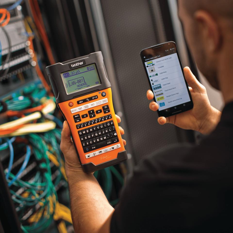 PT-E550WVPNI Network Infrastructure Label Printer 4