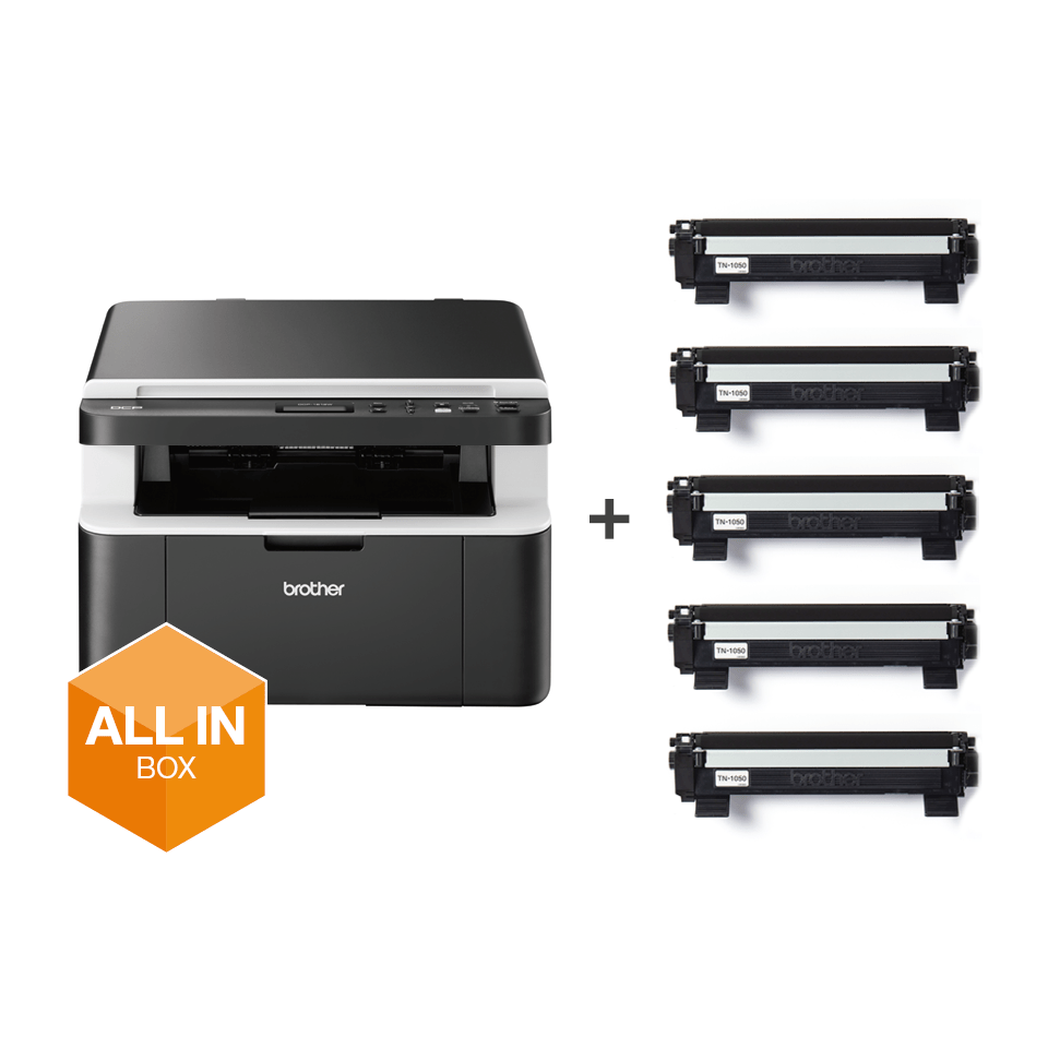 DCP-1612W All in Box Bundle - Wireless 3-in-1 mono laser printer