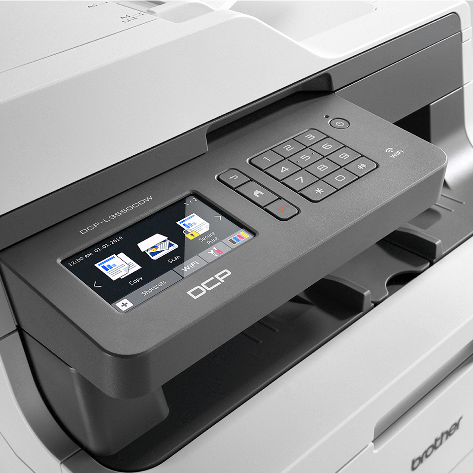 DCP-L3550CDW 3-in-1 wireless colour LED printer with touchscreen display 4