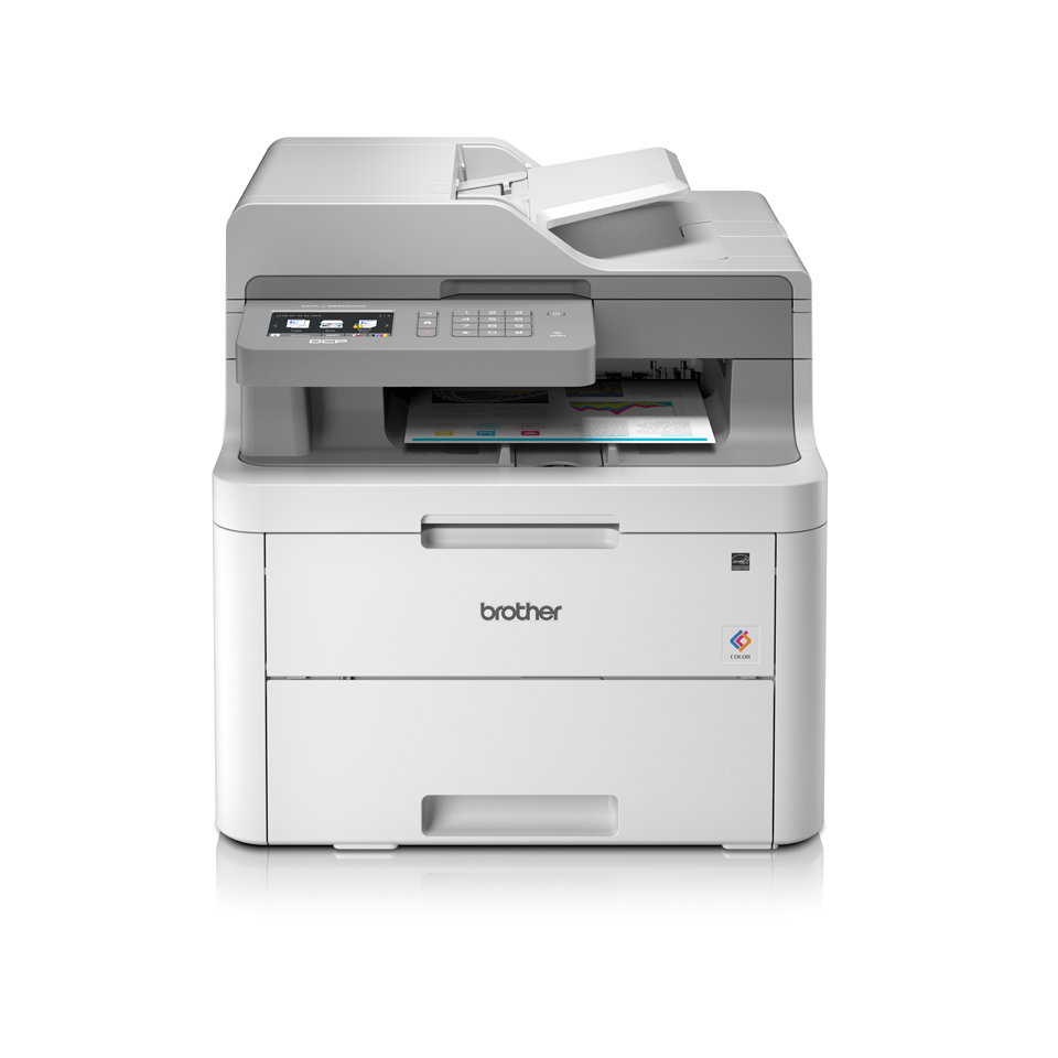 DCP-L3550CDW 3-in-1 wireless colour LED printer with touchscreen display