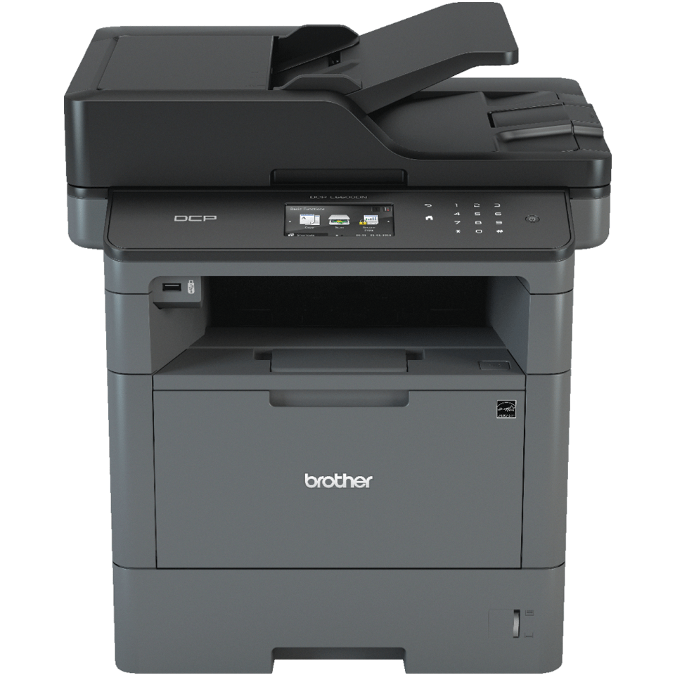 Front image of Brother DCP-L5500DN Mono Laser Printer with Promotion - £75 Cashback and warranty