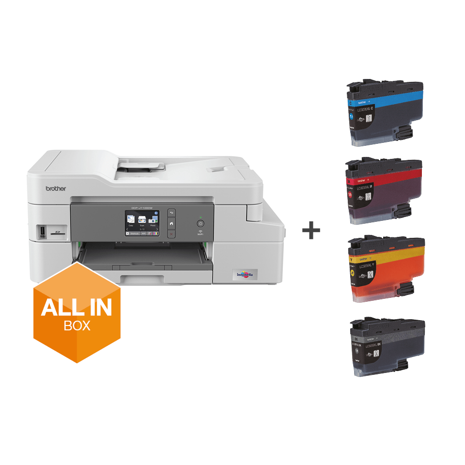 DCP-J1100DW All in Box Wireless 3-in-1 inkjet printer