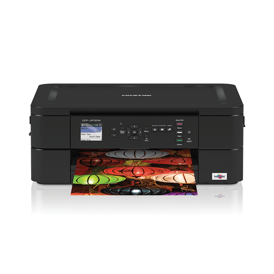DCP-J572DW Wireless 3-in-1 Inkjet Printer