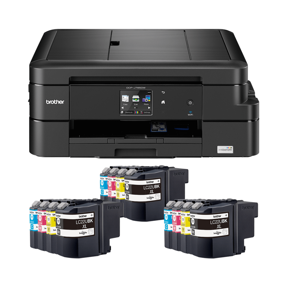 DCP-J785DWXL Inkjet Value Bundle 6