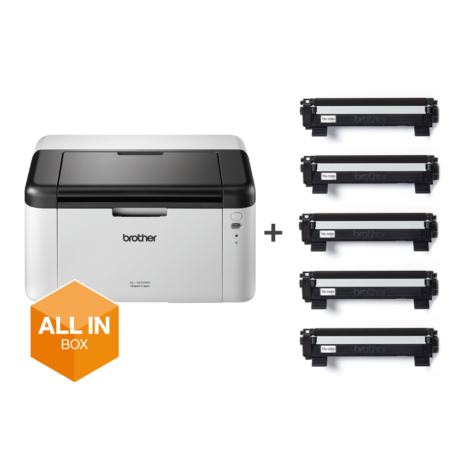 HL-1210W All in Box Bundle - Wireless mono laser printer
