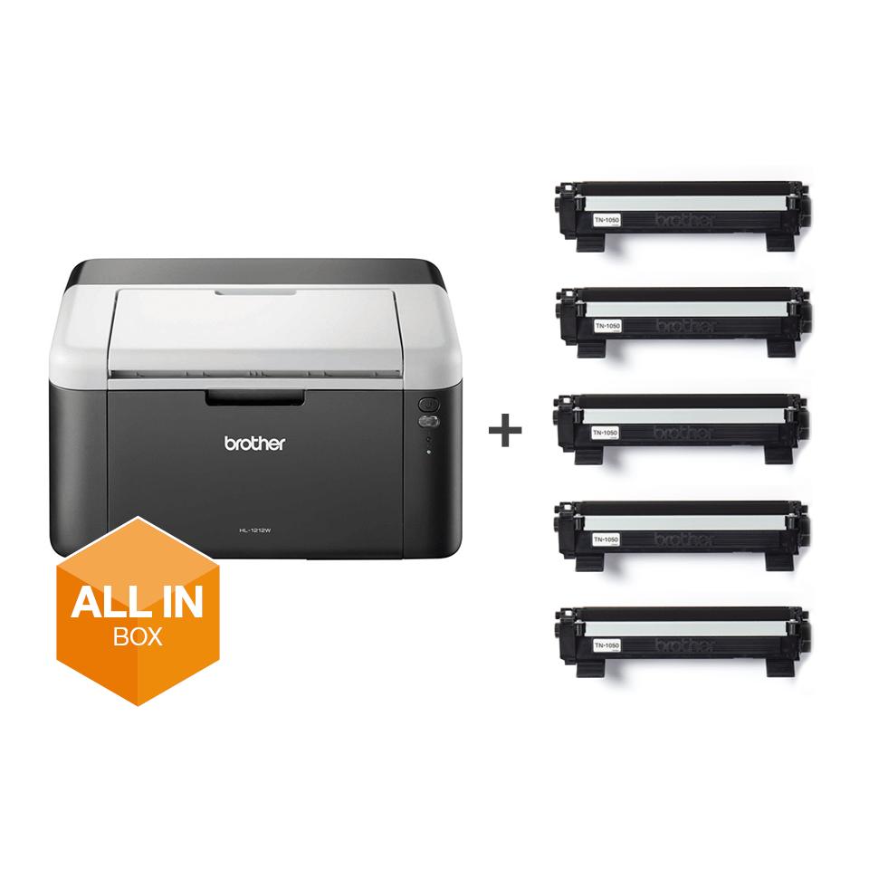 HL-1212W All in Box - Wireless mono laser printer