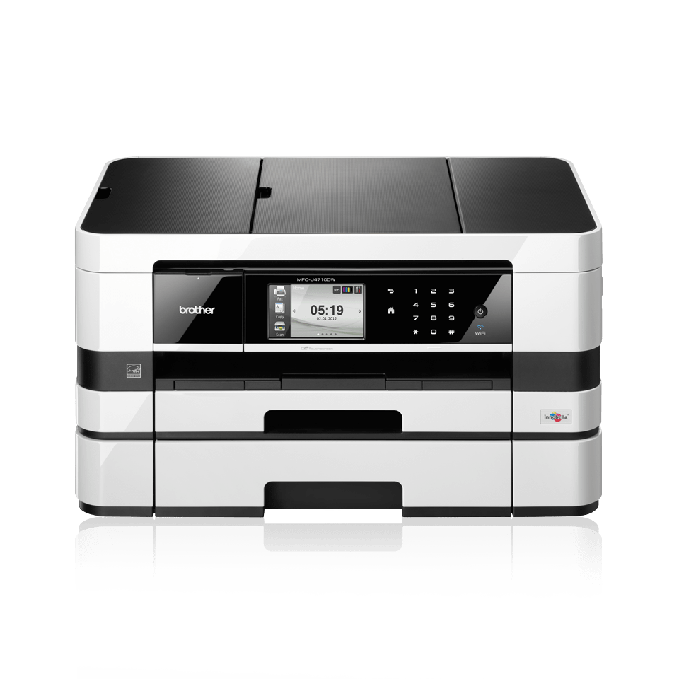 MFC-J4710DW Ultra compact A4 office Inkjet All‐in‐One with A3 capabilities + Duplex, Fax, Paper Tray, Wireless 1