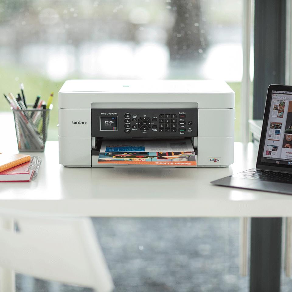 Wireless 4-in-1 Inkjet Printer MFC-J497DW 2