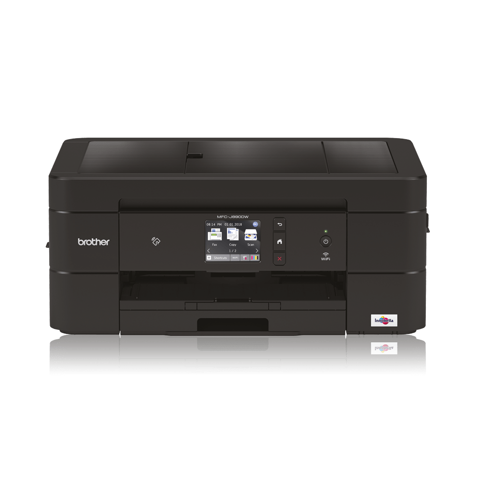 Black inkjet printer facing straight ahead - MFCJ890DW