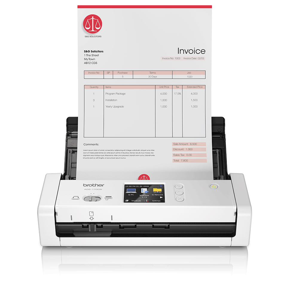 ADS-1700W Wireless, Compact Document Scanner 4