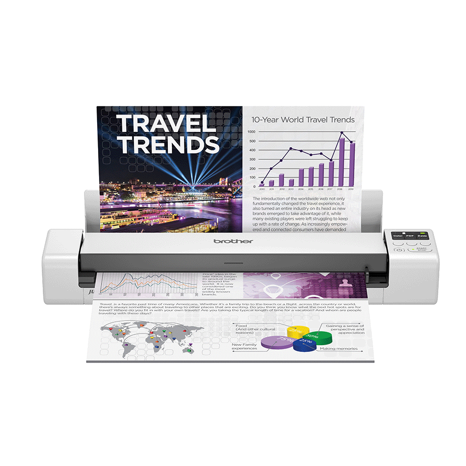 Brother DSmobile DS-940DW Wireless, 2-sided Portable Document Scanner