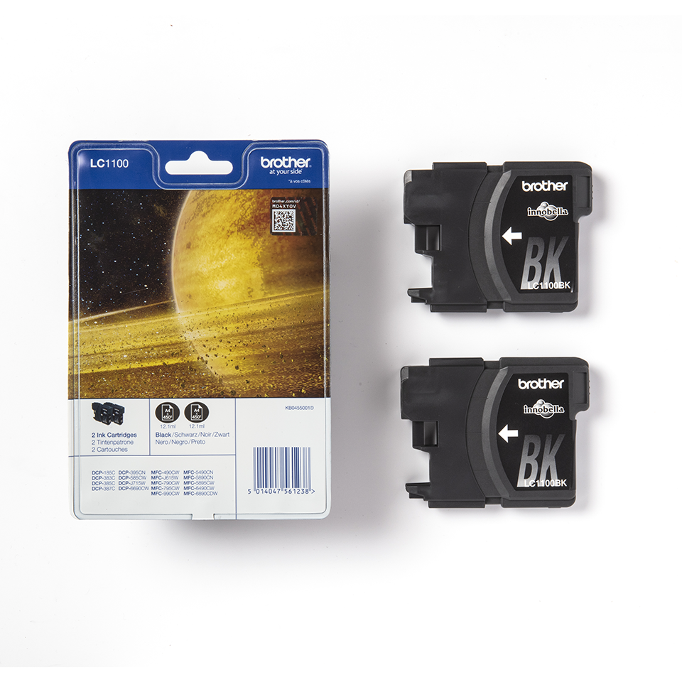 Genuine Brother LC1100BKBP2 Ink Cartridge Twin Pack - Black 3