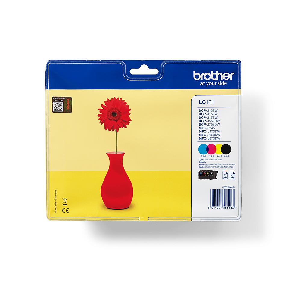 Genuine Brother LC121VALBP Ink Cartridge Multipack