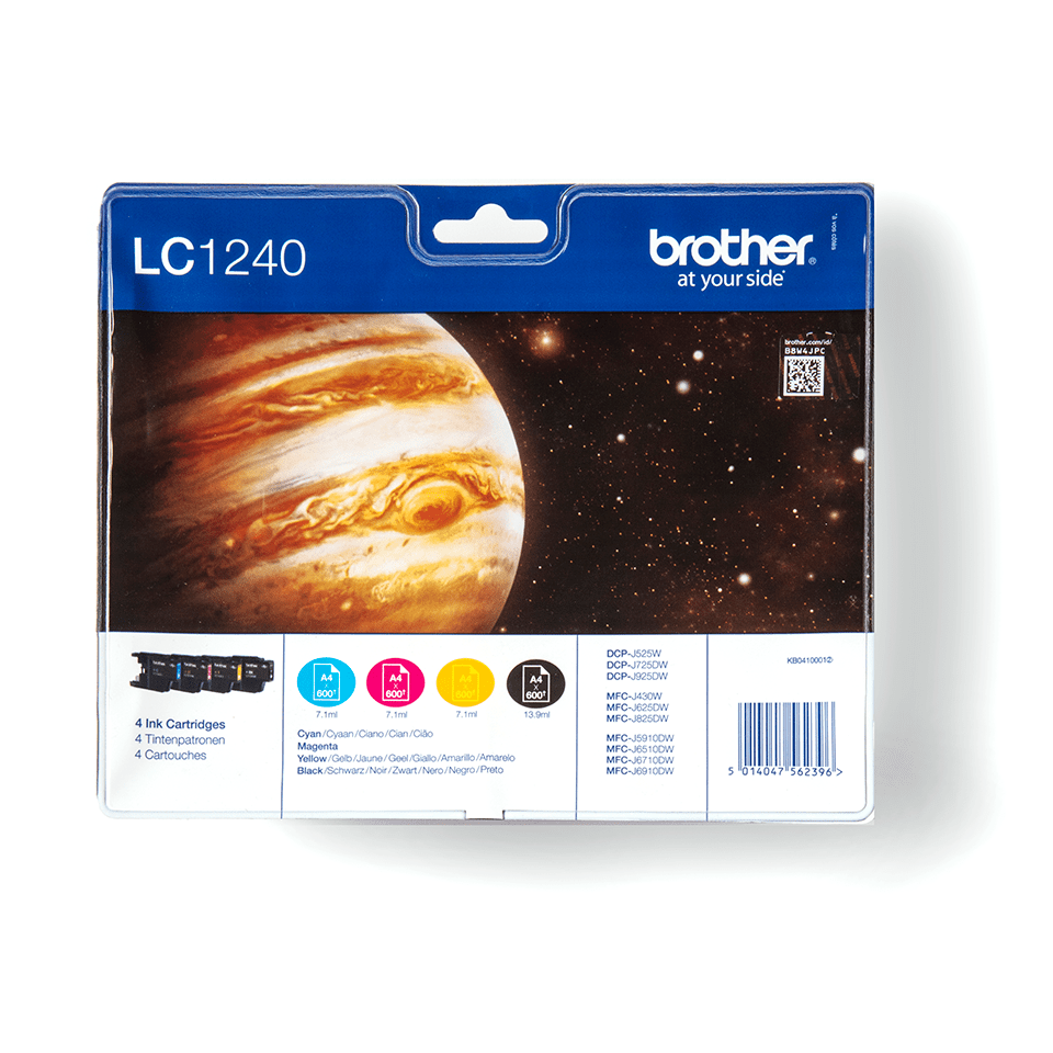 Genuine Brother LC1240VALBP Ink Cartridge Multipack