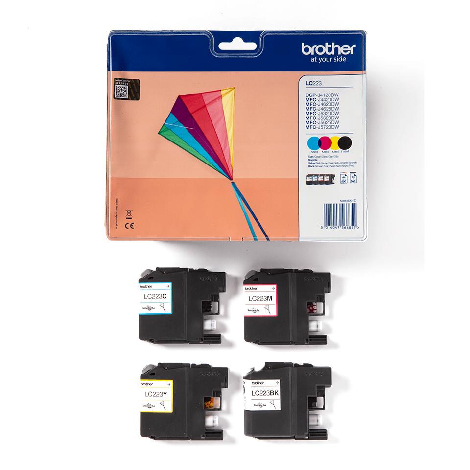 Genuine Brother LC223VALBP Ink Cartridge Multipack 3