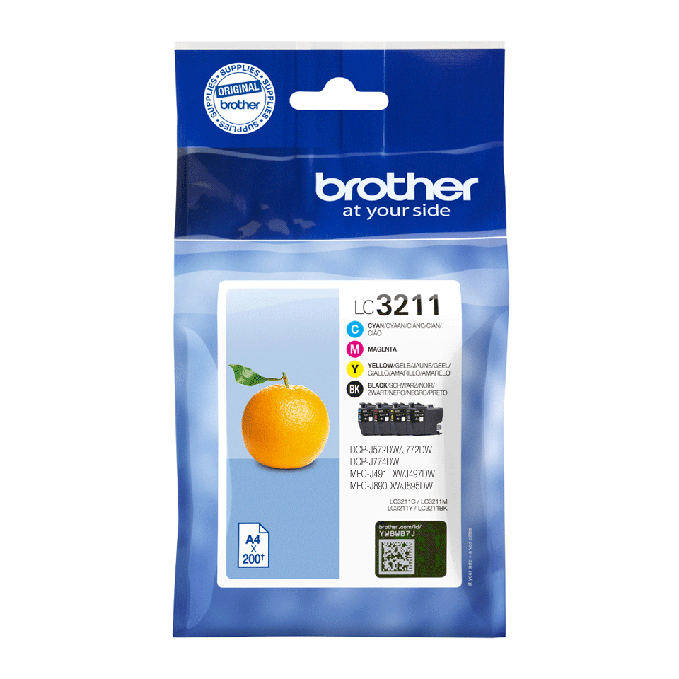 Genuine Brother LC3211VAL ink catridges - value pack 2