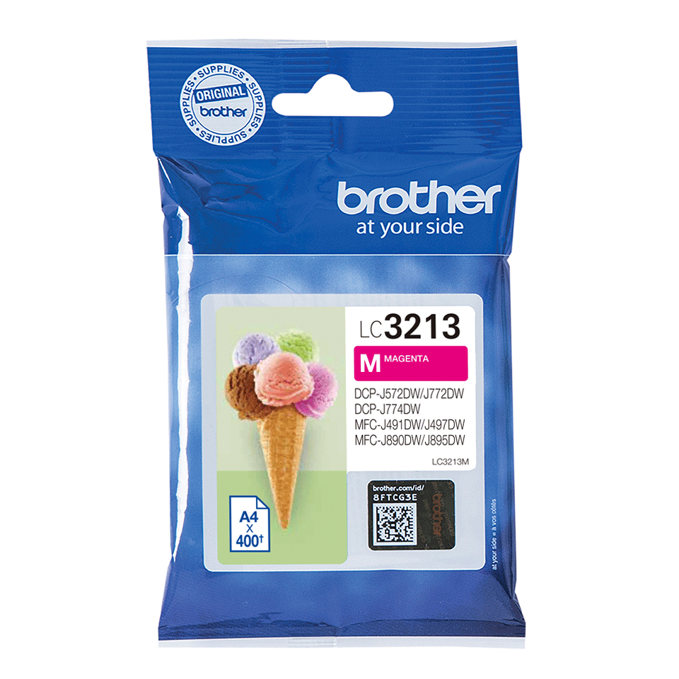 Genuine Brother LC3213VAL ink cartridges - black, cyan, magenta, yellow