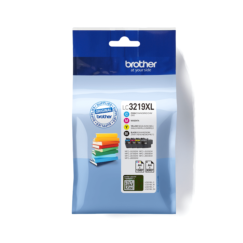 LC3219XLVALBP Brother genuine ink cartridge multi pack front image