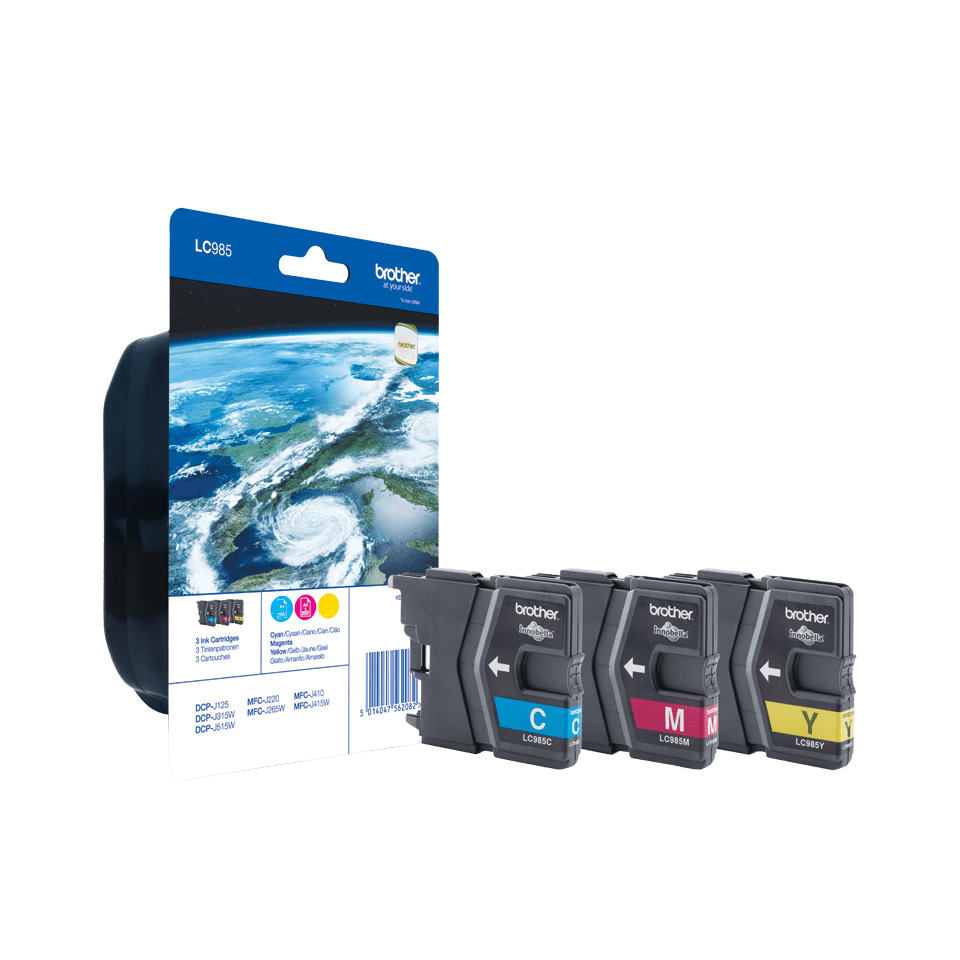 Genuine Brother LC985RBWBP Ink Cartridge Blister Pack 0