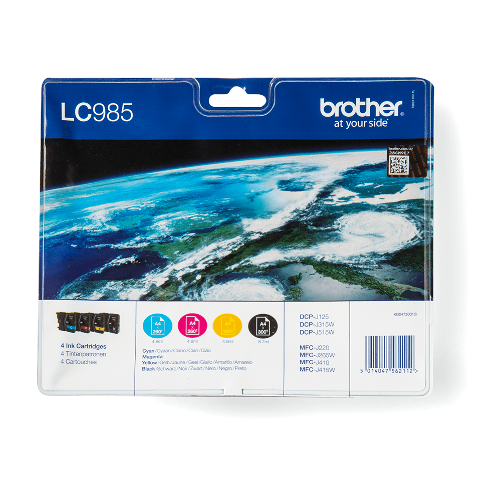 Genuine Brother LC985VALBP Ink Cartridge Multipack