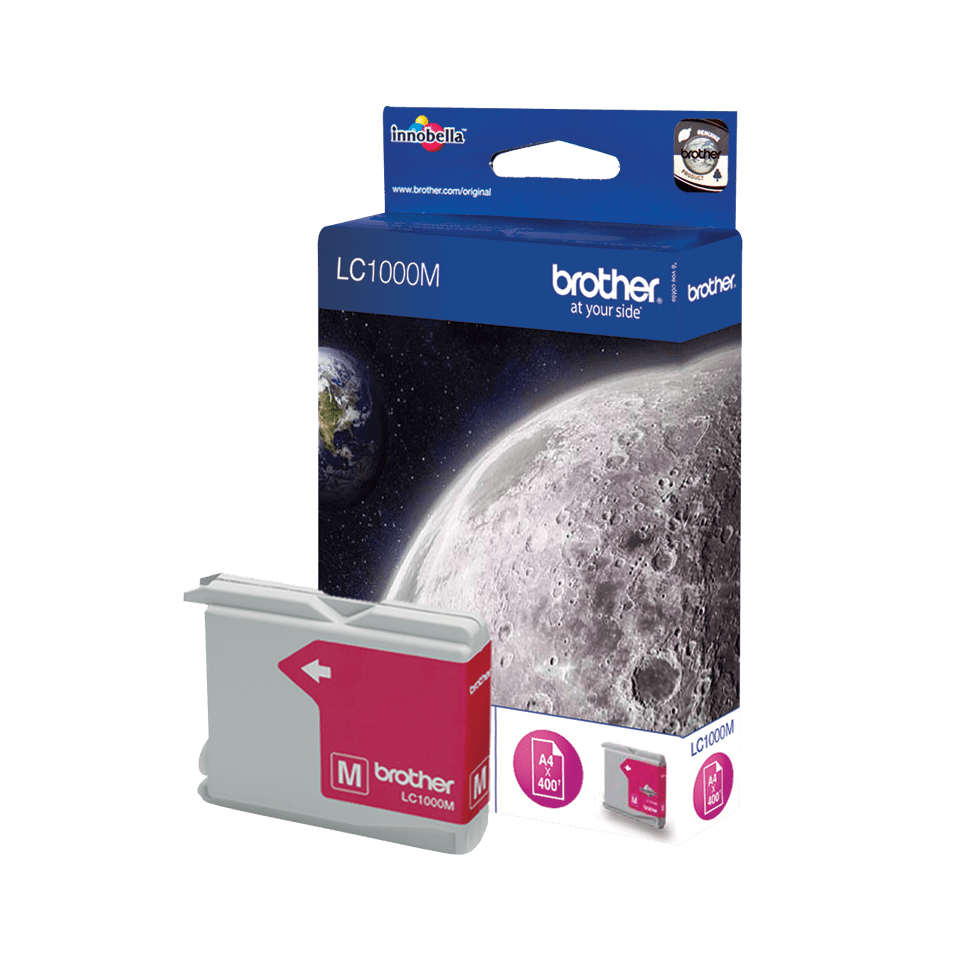 Genuine Brother LC1000M Ink Cartridge – Magenta