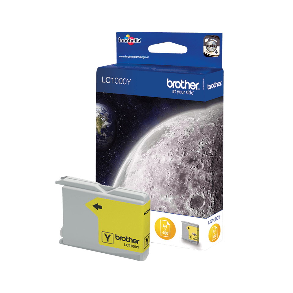 Genuine Brother LC1000Y Ink Cartridge – Yellow 1