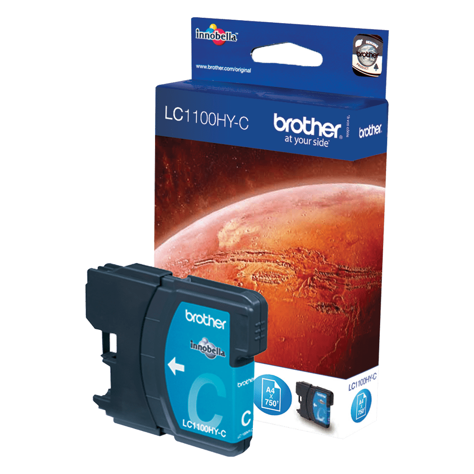 Genuine Brother LC1100HYC High Yield Ink Cartridge – Cyan 0