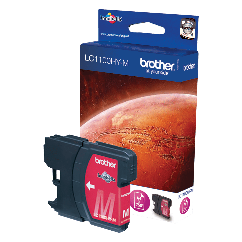 Genuine Brother LC1100HYM High Yield Ink Cartridge – Magenta