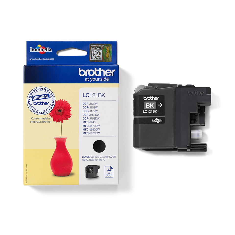 Genuine Brother LC121BK Ink Cartridge – Black 3
