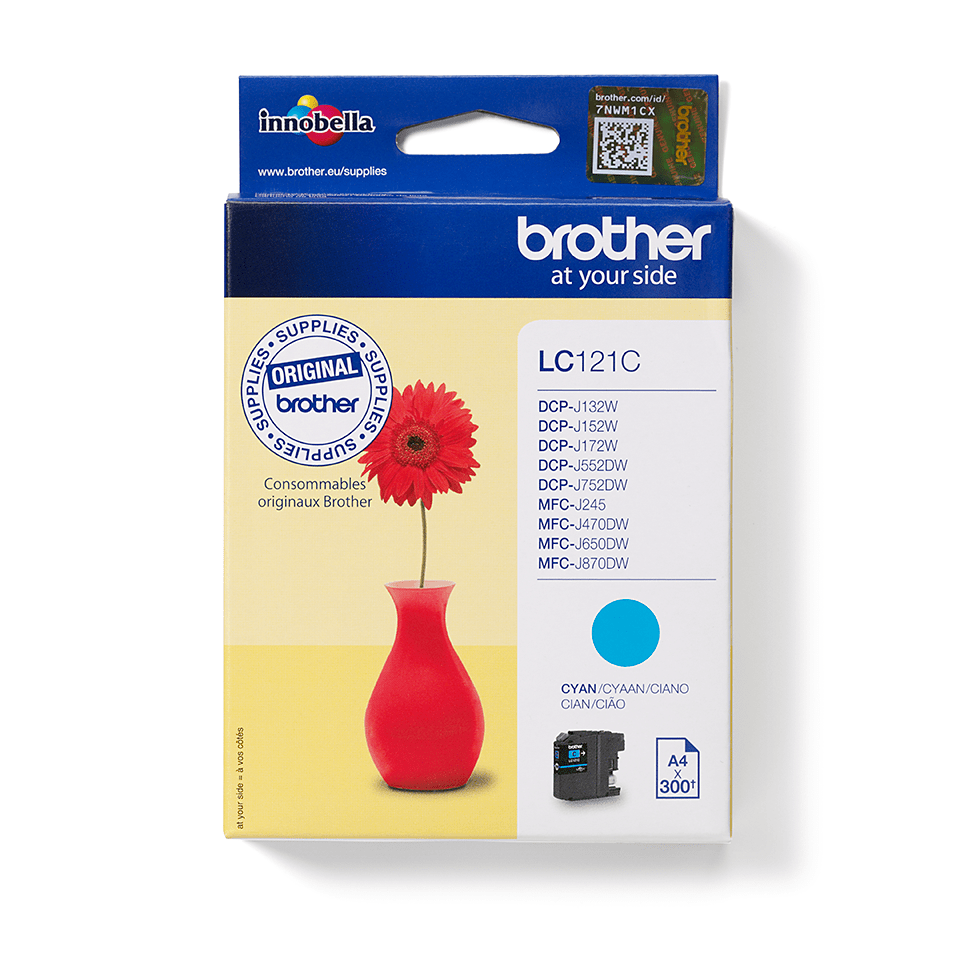 Genuine Brother LC121C Ink Cartridge – Cyan 1