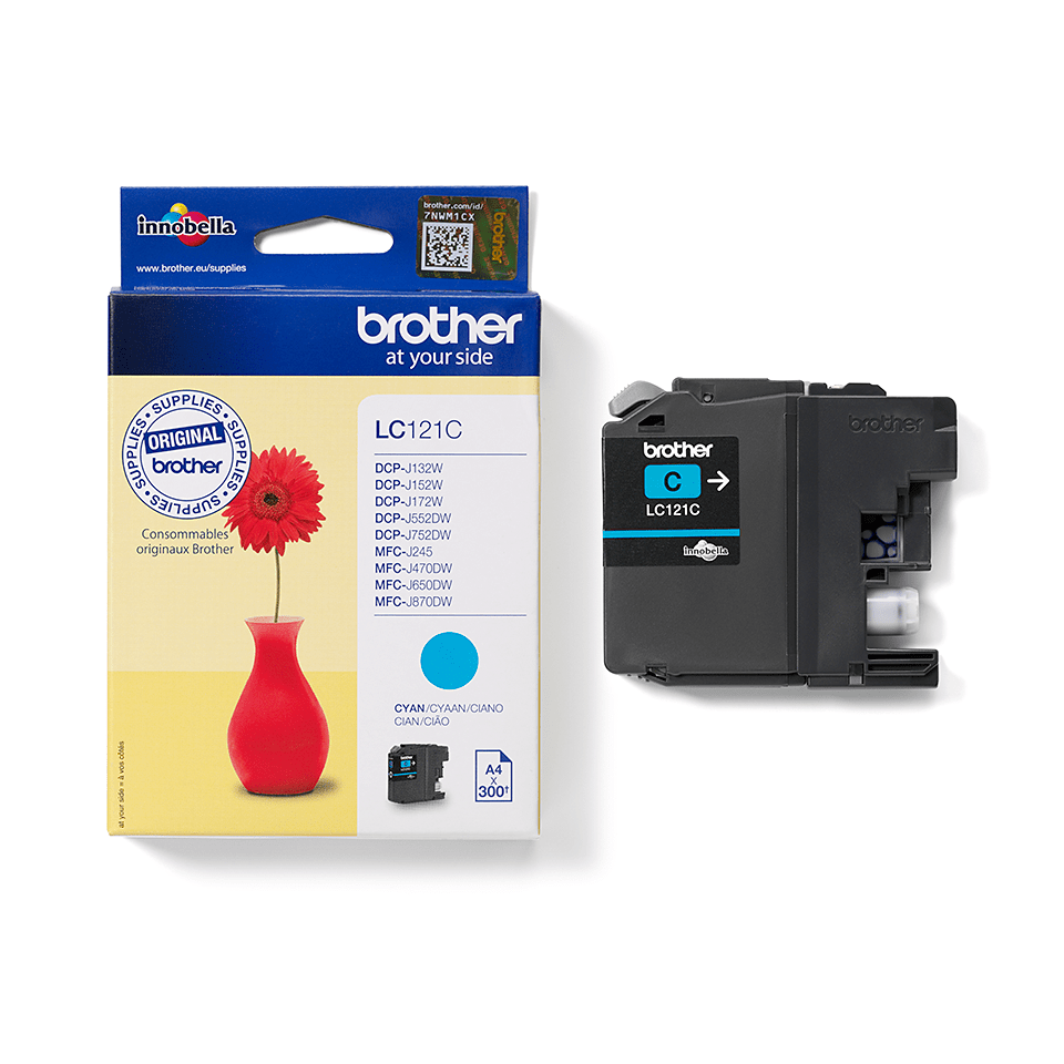 Genuine Brother LC121C Ink Cartridge – Cyan 0