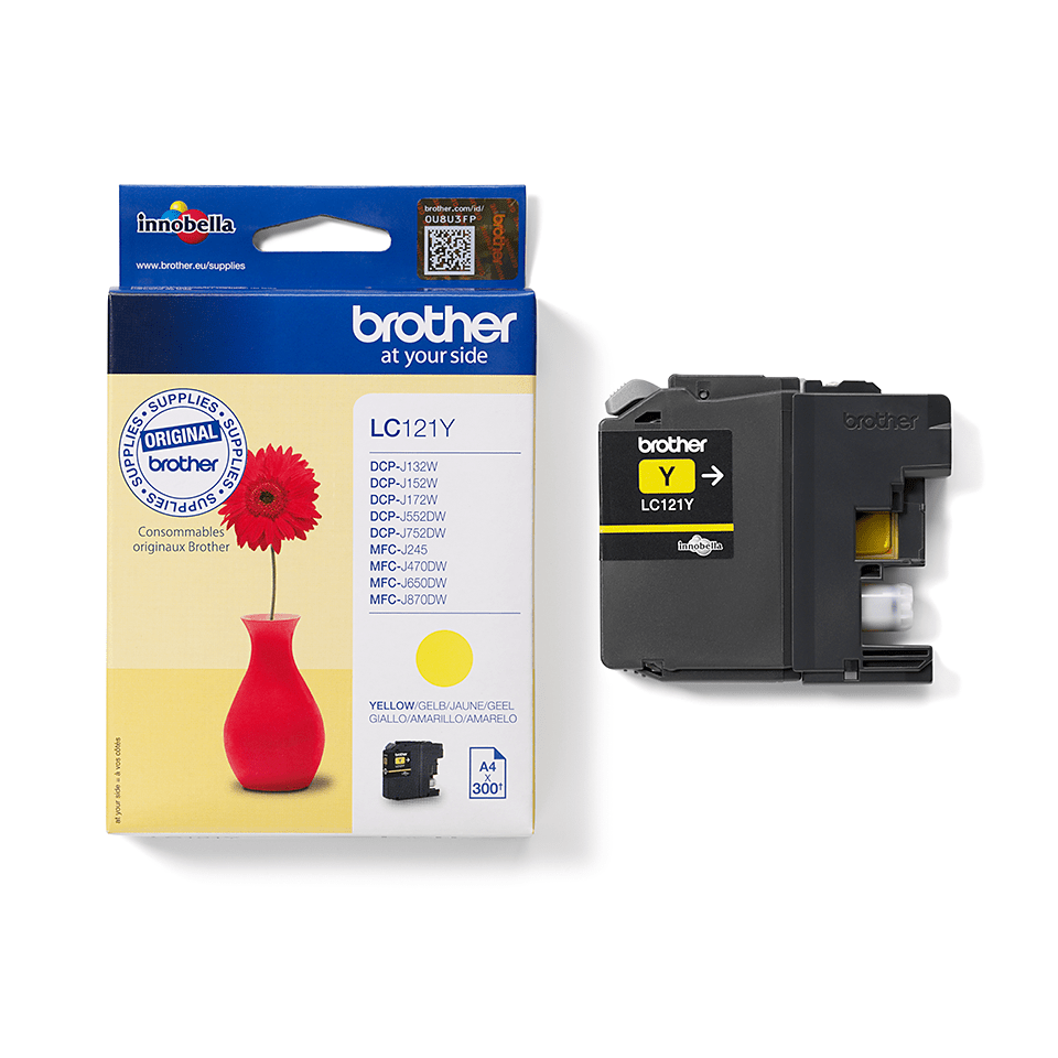 Genuine Brother LC121Y Ink Cartridge – Yellow 1