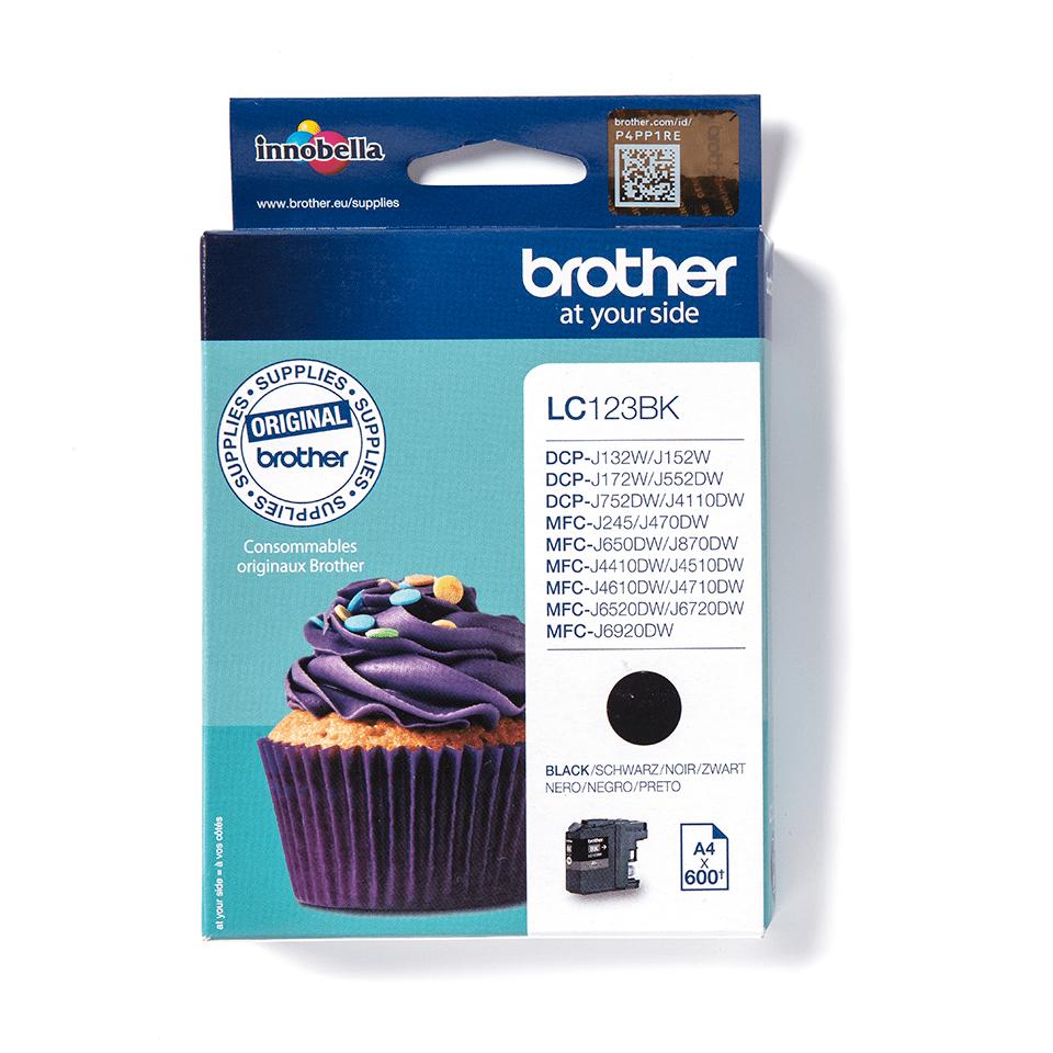 Genuine Brother LC123BK Ink Cartridge – Black 0