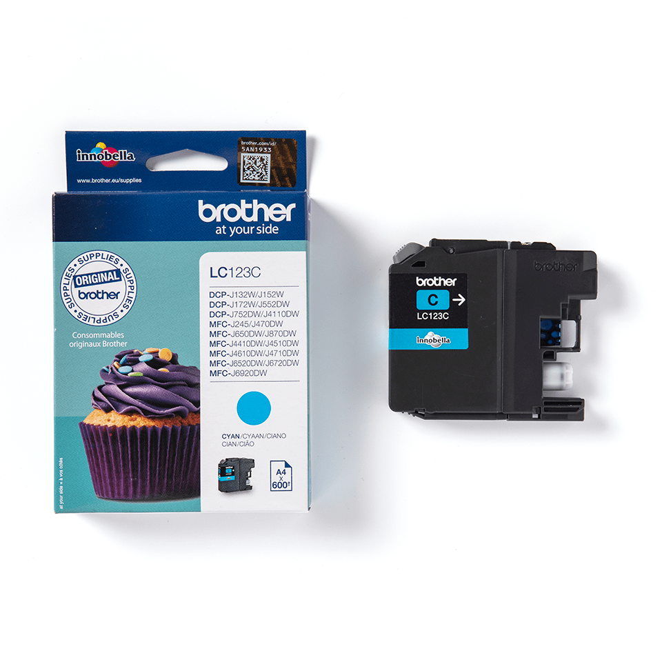 Genuine Brother LC123C Ink Cartridge – Cyan 1