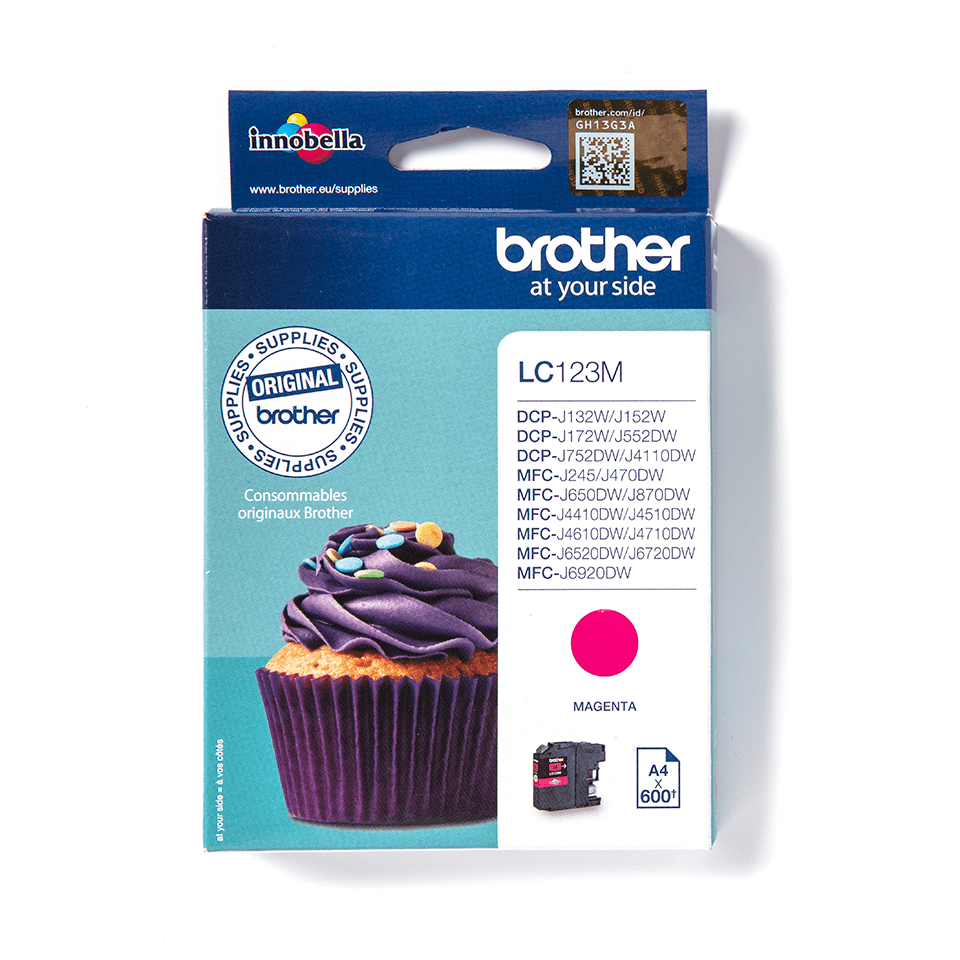 Genuine Brother LC123M Ink Cartridge – Magenta