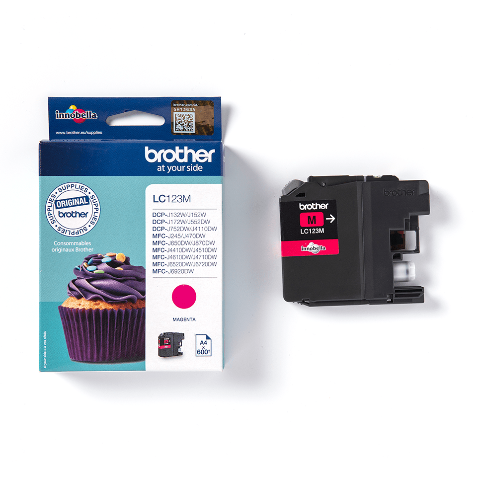 Genuine Brother LC123M Ink Cartridge – Magenta 1