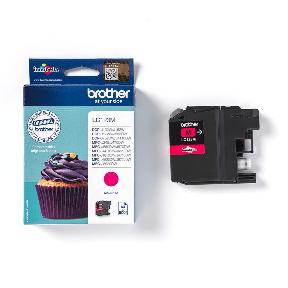 Genuine Brother LC123M Ink Cartridge – Magenta 3