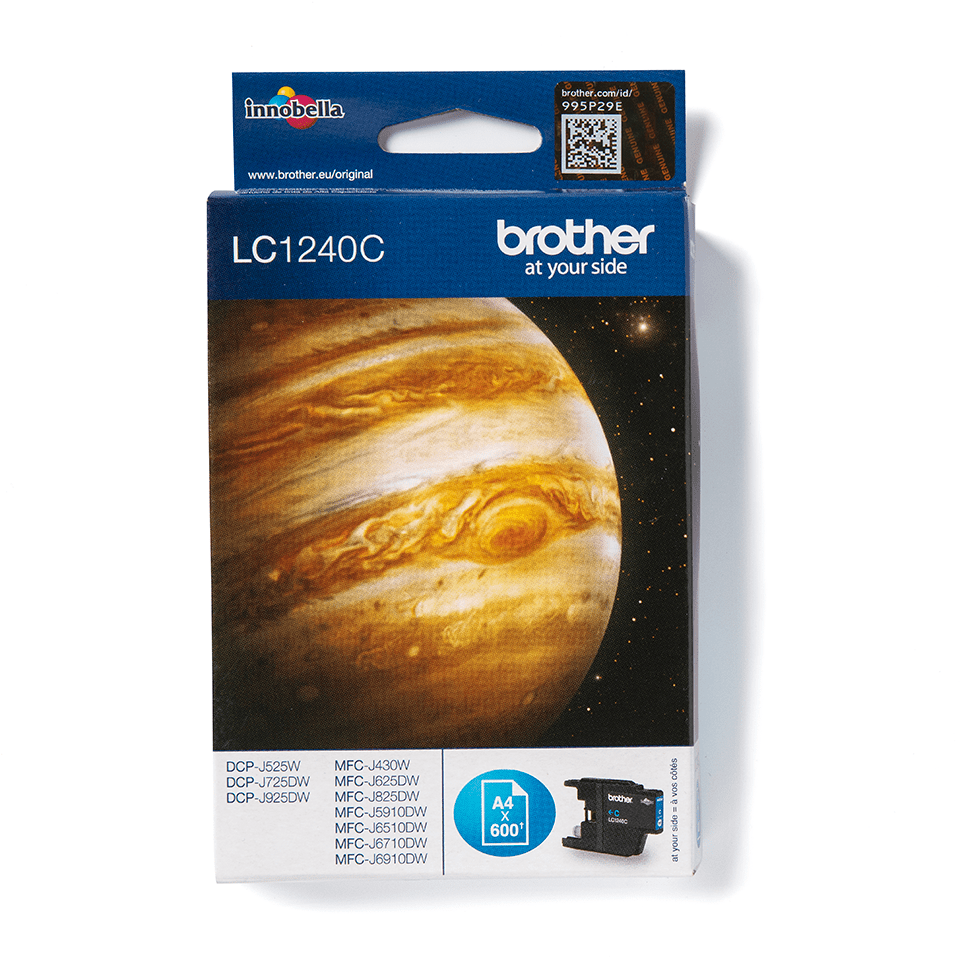 Genuine Brother LC1240C Ink Cartridge – Cyan 2
