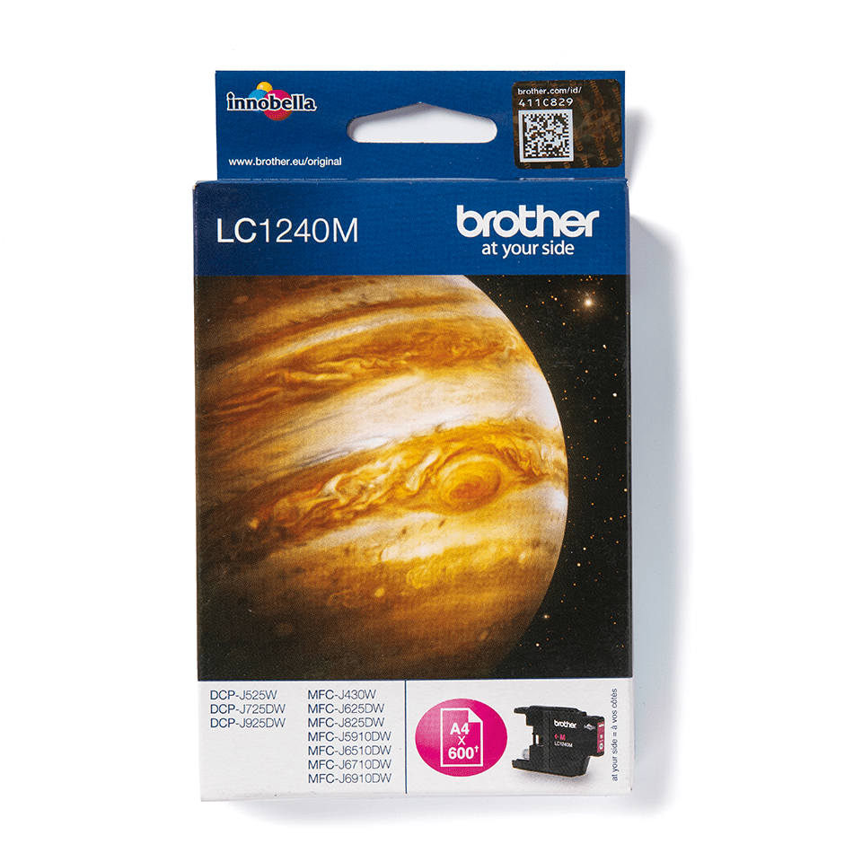 Genuine Brother LC1240M Ink Cartridge – Magenta 2