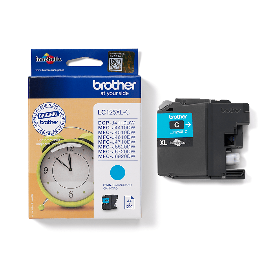 Genuine Brother LC125XLC Ink Cartridge – Cyan 2
