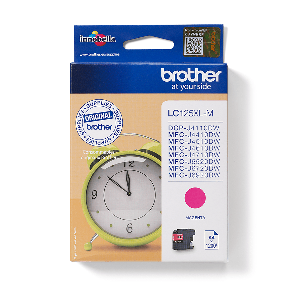 Genuine Brother LC125XLM Ink Cartridge – Magenta 0