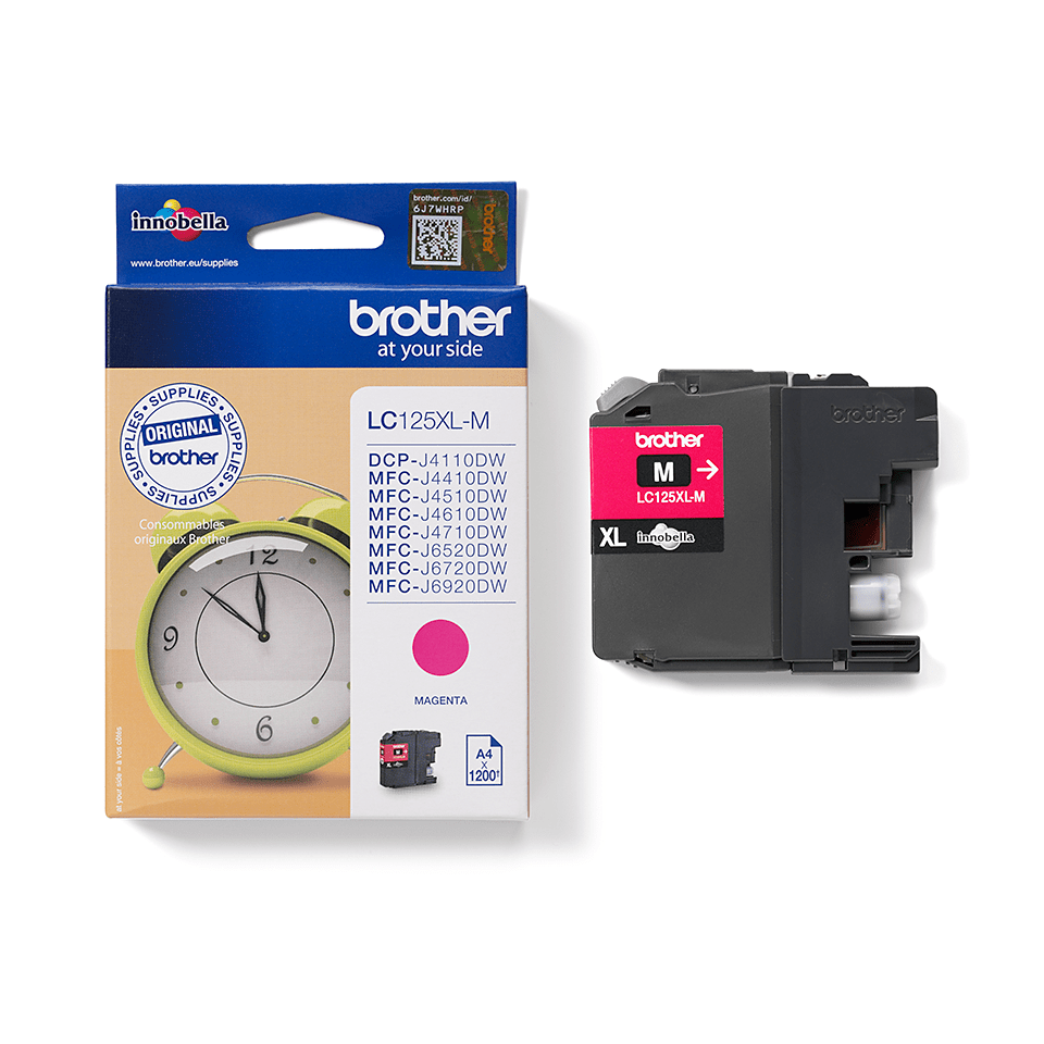 Genuine Brother LC125XLM Ink Cartridge – Magenta 1