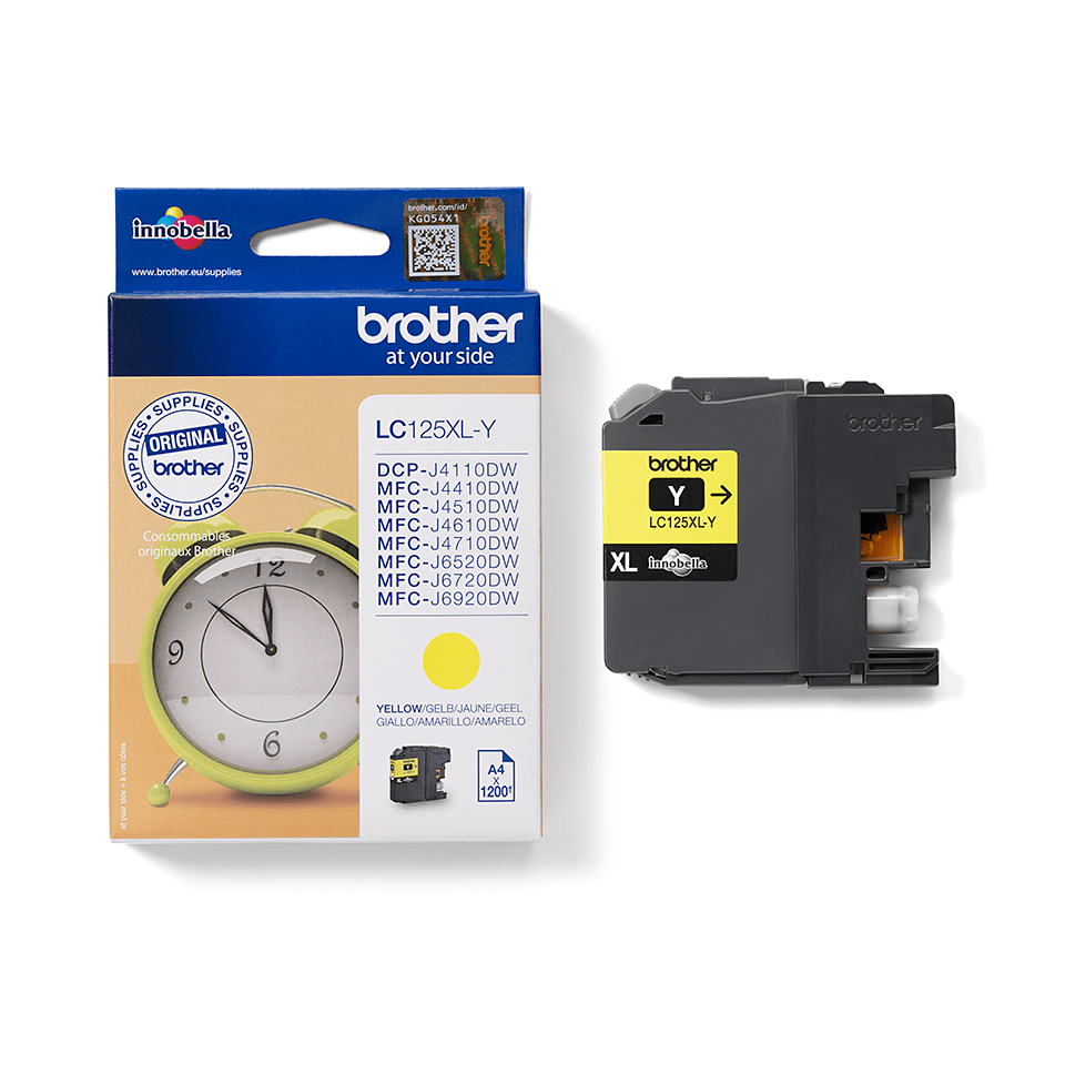 Genuine Brother LC125XLY Ink Cartridge – Yellow 2