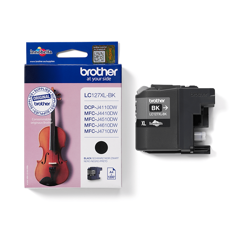 Genuine Brother LC127XLBK High Yield Ink Cartridge – Black  2